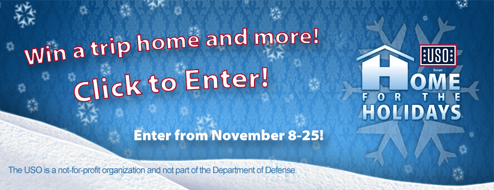 USO Europe Home for the Holidays Contest